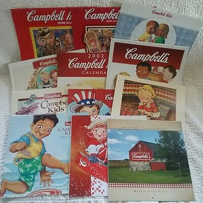 Lot of  VINTAGE Collectible Campbell's Soup Kids Advertising Calendars