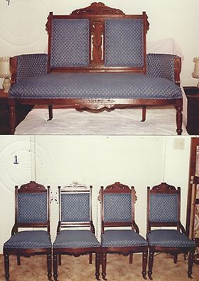 Antique Lakeland LoveSeat and Lakeland Chairs