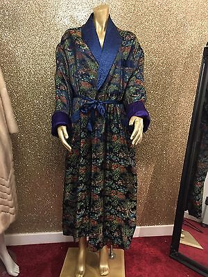 Stunning True Vintage 1920's Embroidered Dressing Gown / Robe Ladies / Gents