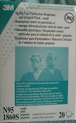 3M N95 Particulate Respirator BOX OF 20 #1860S Mask Cone FLU Surgical HealthCare