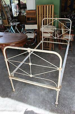 A Victorian Cast Iron Single Bed Frame