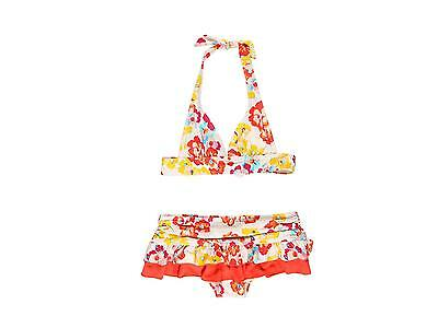 Juicy Couture Girls Bathing Swimming Suit Blossoms Halter Bikini Size 12 New
