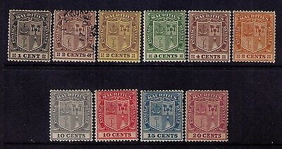 Mauritius Stamps, Scott # 161/177 Selection Wmk 4 Mh&used Cat.$37