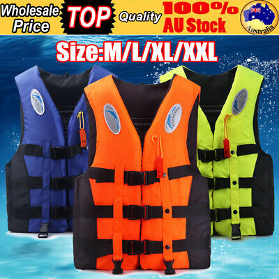 Adult Child Life Jacket Swimming Boating Kayak Stormy Buoyancy Vest W/ Whistle
