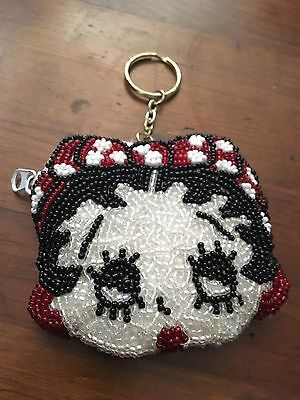 Betty Boop Beaded Coin Purse Keychain