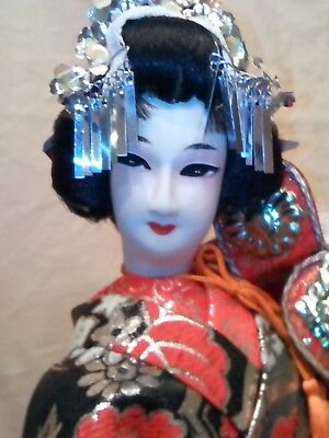 "Bunraku traditional Japanese Doll is a beautiful 18"" and in perfect condition"