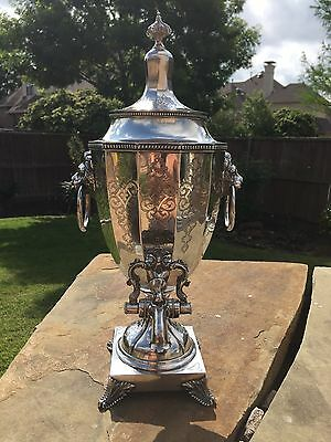 MUSEUM Sterling Tea Urn  made 1856 by JOHN COX & CO