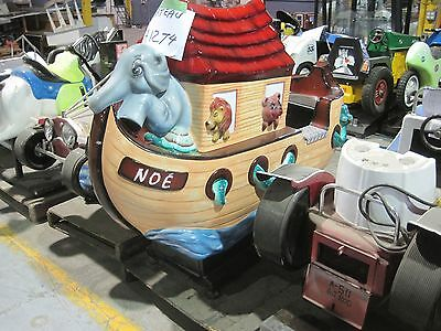Noah's Ark Coin opperated Kiddy Kiddie Ride Amusement Antique