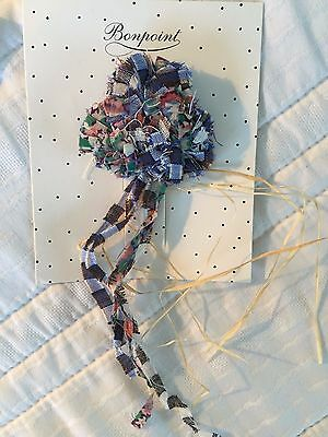NEW! BONPOINT Liberty Fabric Pin Brooch TU/one sz for sweater, t-shirt, hat, bag