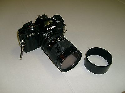 Vintage Minolta X700 35mm SLR film camera W/ 80mm zoom lens & filter - working