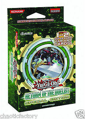 Yugioh TCG Return of the duelist Special Edition Factory Sealed!