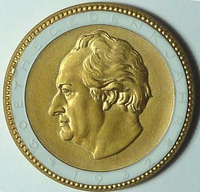 #3001 Germany 1932 Gilt White Porcelain Coin, von Goethe, as made