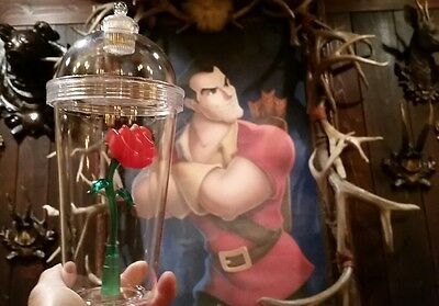 ��⚘Disney Disneyland Beauty and The Beast Belle Light Up Rose Sipper Tumbler Cup