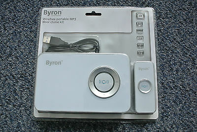 Byron HB702 100m MP3 Wireless Door Chime with 32 Pre-Loaded Sounds