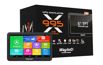 WayteQ x995 Android PKW & Segelflieger 5Zoll Touch Panel in der PUR Edition