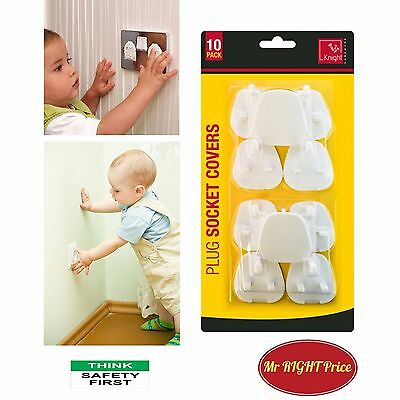 PLUG SOCKET COVERS -5/10/20 x CHILD BABY PROOF MAINS ELECTRICAL SAFETY INSERTS