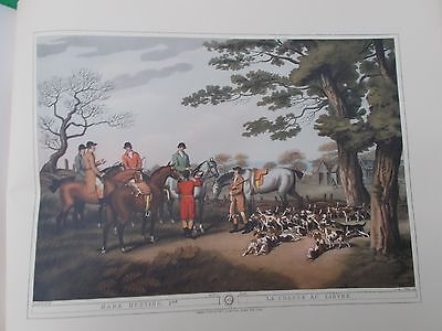 VINTAGE COLOUR PRINT Hare Hunting 8 ORME LONDON HOWITT HORSE