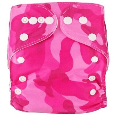 Modern Baby Cloth Nappies Diaper Washable Reusable & Size Adjustable + Inserts