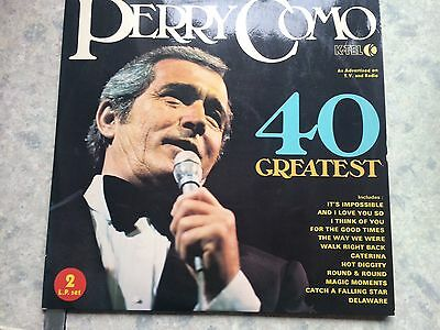 "Perry como 40 greatest hits, 12""vinyl record Lp free post"
