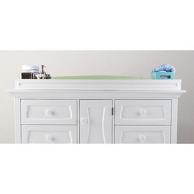 Eco Chic Baby Dorchester Changing Topper - Pure White