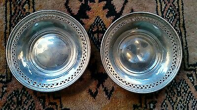 "(2) Vintage Marked Sterling Silver 3"" Bowls"