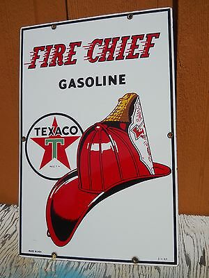 Fire Chief Porcelain Sign