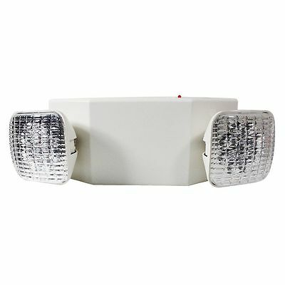 ALL LED Emergency Light - Square Head - 120/277V