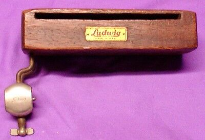 1920-40s LUDWIG & LUDWIG Woodblock and hoop ount holder