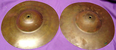 """Pair of 1920-40s LUDWIG & LUDWIG 10"""" Low Boy Big Cup hi hat cymbals"""