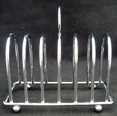 Vintage Retro Chrome Toast Rack - Six Slices