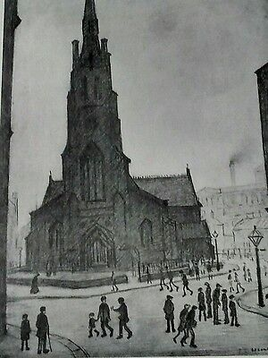 "L S Lowry signed limited edition print ""St Simon's Church"""