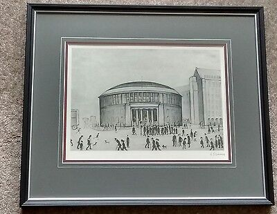 "L S Lowry signed limited edition print ""The Reference Library"""