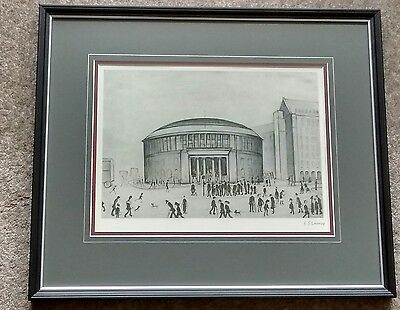 "Now framed. L S Lowry signed limited edition print ""The Reference Library"""