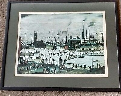 "L S Lowry signed limited edition print ""An Industrial Town"""