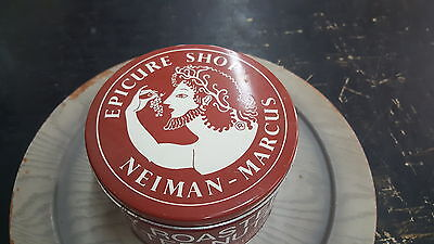 Vintage Epicure Shop Neiman-Marcus 2 Lb Roasted Salted Nuts Advertising Tin