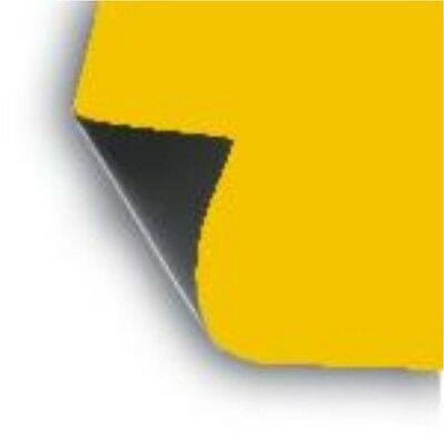 "2 x 18"" x 12"" Sheet flexible 30 mil Magnet Blank Dark-Yellow Magnetic car craft"
