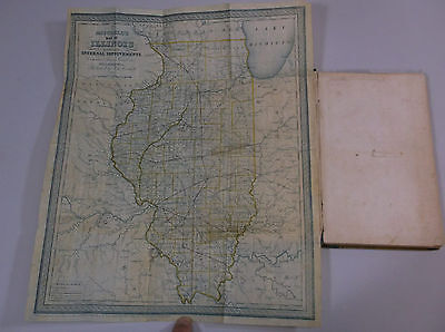 Rare Illinois In 1837 With Map Book By Augustus S. Mitchel     *g-Cond*
