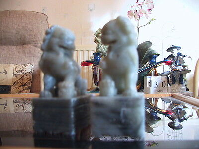Pair of  Chinese stone Foo Dogs.