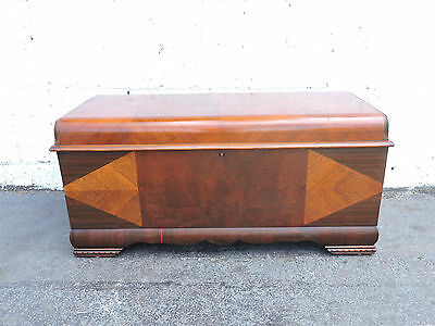 Art Deco Waterfall Cedar Chest Trunk by Lane 8342