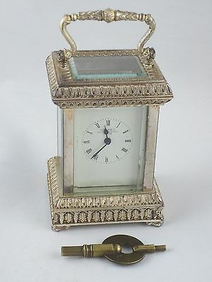 Sterling silver Carriage clock London 1979 Christopher Lawrence House of Lawrian