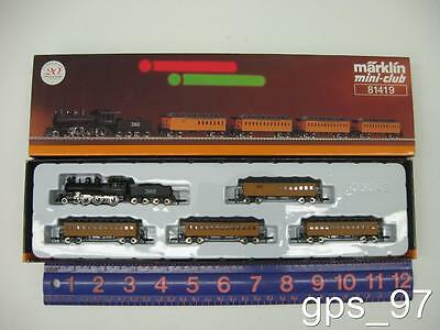 Z - Marklin 81419 Nostalgic Casey Jones Set with 4-6-0 Steam Loco/Tender - NIB