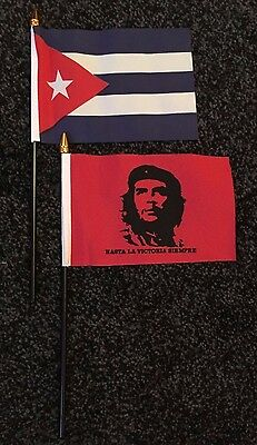 Cuba Table / Hand Flag Che Guevara Cuban Socialist Communist Student Labour