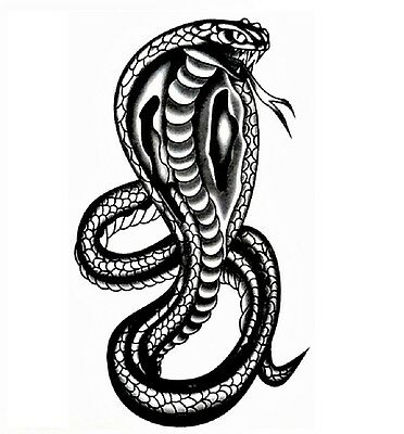 Temporary Women Men TATTOO Waterproof COBRA SNAKE King Horse High Quality
