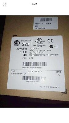 New Allen Bradley 22B-D1P4N104 Power Flex 40 1/2 HP VFD AC Drive 22BD1P4N104