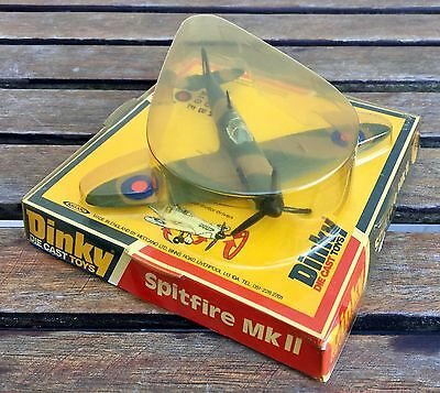 DINKY TOYS -SPITFIRE MK II No 741- VINTAGE DIE CAST FIGHTER AIRCRAFT MODEL BOXED