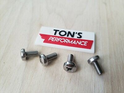 Black ACURA luxury Auto License Plate Screws Stainless bolts OEM replacement