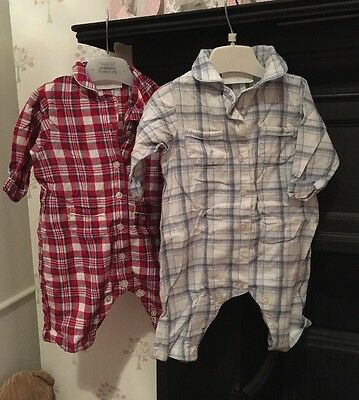 2x Little White Company Baby Boys Pyjamas 3-6 Months