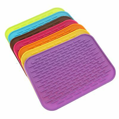 Useful Silicone Kitchen Cooking Trivet Heat Resistant Mat Pad Hot Pot Pan Holder