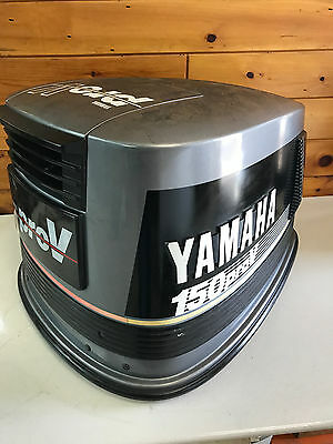 1989 Yamaha 150 Hp 2 Stroke V6 Outboard Engine Top Cowl Cover Hood Freshwater MN