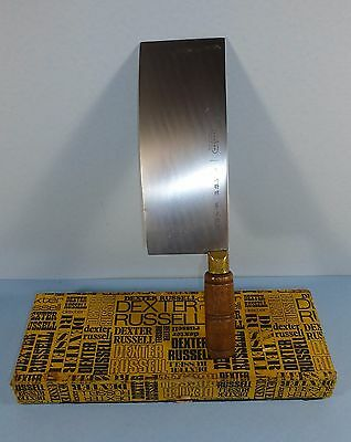 Chinese Chef Cleaver. Dexter Russell. Wood Handle. Professional